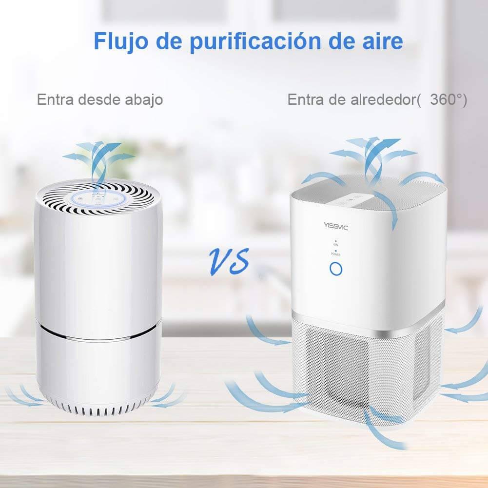 entrada de aire purificador de aire