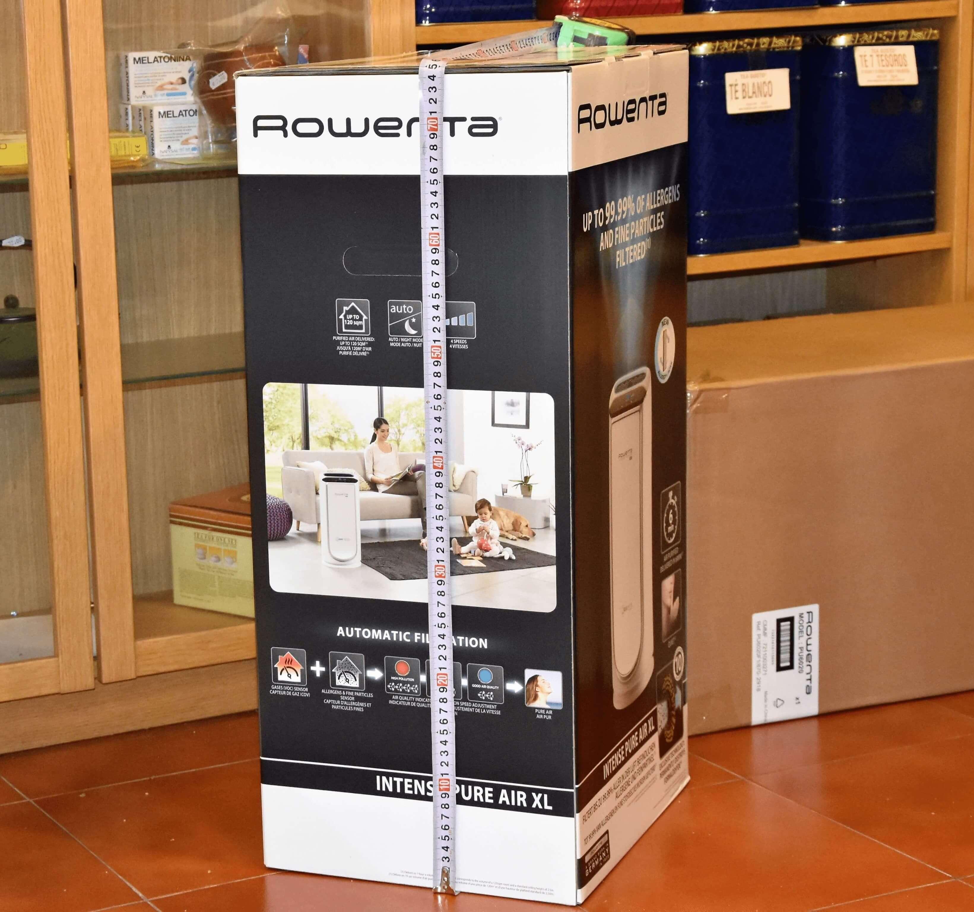 medida de caja rowenta ionizador