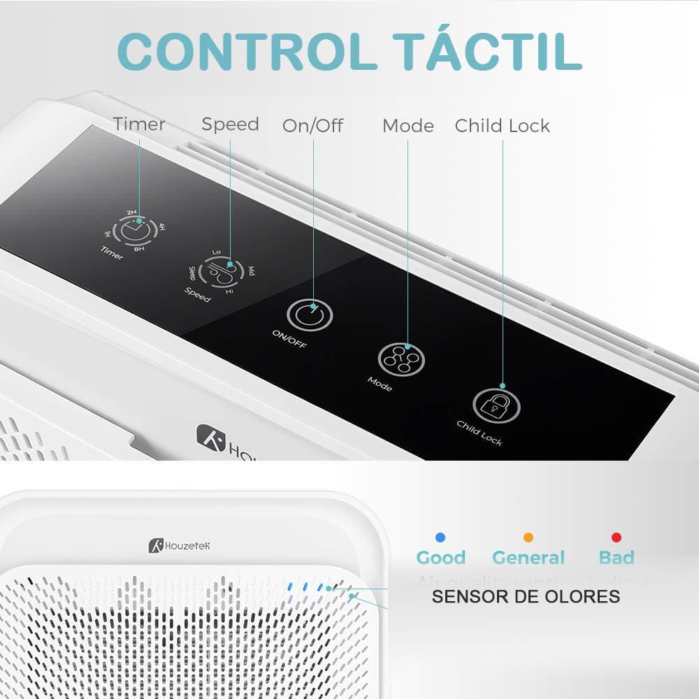 control tactil purificador
