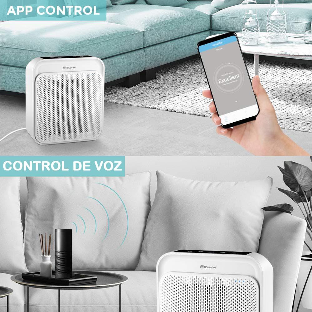 purificador aire app voz